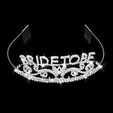 Headband tiara Hen Party Crown Bride to Be Bridal Shower Crystal Headwear Bands