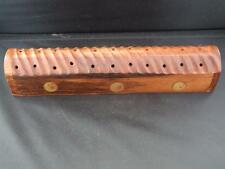 Wooden Shesham Incense Cone Smoke Box with Brass Yin Yang Motiffs.