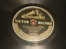Albert Muller 78 RPM Victor 52903 Carnival of Venice 1905 1-Sided Etched on Back