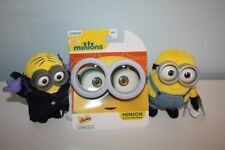 NEW UNIVERSAL STUDIOS MINIONS STUFFED PLUSH TOYS & OFFICIAL SHADES GOGGLES LOT