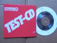"STEREO TEST-CD , 3""mcd m(-)/m- SZV-ZENTRALLABOR BY DADC Austria 1988"