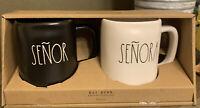 Rae Dunn - SEÑOR & SEÑORA - Black & White 2 Coffee mug gift set ☕️