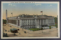 Washington DC Postcard 1917 Treasury Building