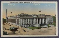 Washington DC Postcard Treasury Building   1917