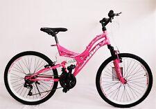 24 Zoll Mädchenfahrrad Mountainbike Fahrrad  21 GANG vollgefedert scarlet Neu