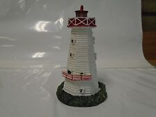 White Octagon Lighthouse Red Trim
