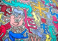 Tela Canvas Keith Haring cod 11 cm 70x100 Stampa Printing Digital Art papiarte