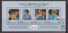 1998 hoja de sellos princesa Diana Memorial estampillada sin montar o nunca montada Bermuda SG MS