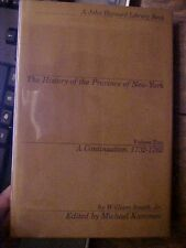 1972 Book THE HISTORY OF THE PROVINCE OF NEW YORK VOL 2, 1732-1762