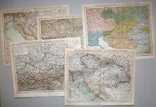 Konvolut, Sammlung, Österreich-Ungarn, Bosnien - K&K Zeit - 5 Karten 1884