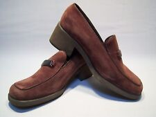 Vintage Hush Puppies Casual Chunky Heel Loafers Women's Size 8 1/2