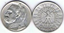 5 Zl Silbermuenze 1935 Josef PILSUDSKI , Silber 11 gr.!! , TOP Zustand, RAR