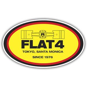 Flat 4 sticker aircooled beetle retro 113mm x 67mm