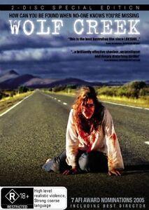 Wolf Creek (DVD, 2005, 2 Discs) Peter Alchin, John Jarratt, Andy Mcphee R4