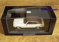Minichamps - Ford Capri Mk2 2.3 GT, White, 1974 - Ltd.Ed. 1008 - 1/43 NEW