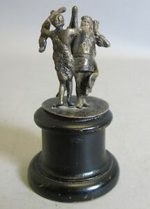 Early 19th C. STERLING SILVER Sculpture of King c. 1830  Buchwald Wien Austria +