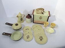 Toy Dishes Ohio Art Pfaltzgraff Village Toaster Tin Plates Coffee Pot Lot of 15