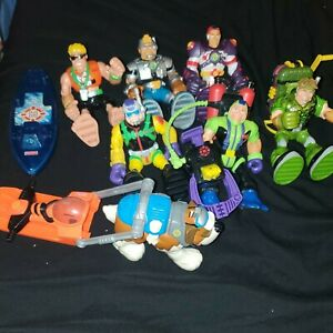 Vintage 1999-2000s Rescue Heroes Figures Lot of 10 Action Figures & Accessories