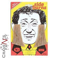 Blonde Sideburns 60s 70s Period Drama Old Man Mens Fancy Dress Self Adhesive OAP