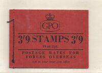 GB BOOKLET 3/9 JUNE 1955 SG G7 WATERMARK INVERTED