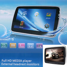 "10"" Full HD Digital LCD MP5 Car Headrest Monitor DVD/USB/SD TF MEDIA Player New"
