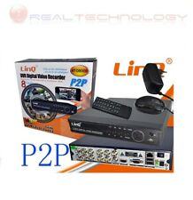 DVR 8 CANALI PER VIDEOSORVEGLIANZA DIGITAL VIDEO RECORDER  P2P LINQ NT-D8008