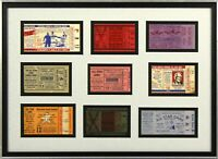 1949 - 1960 Baseball All Star Game Ticket Stub Collection Framed Jackie Robinson