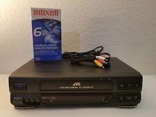 Jvc Hr-Vp636U Hi-Fi 4- Head Vcr Vhs Video Cassette Recorder Player - Tested