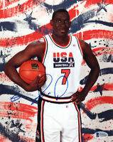 SHAWN KEMP SIGNED AUTOGRAPHED 8x10 PHOTO TEAM USA VERY RARE BECKETT BAS