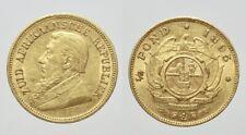 SUD AFRICA1852-1902 -AU/ 1/2 half POND 1895 oro gold