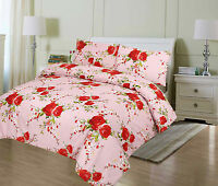 EGYPTIAN COTTON STYLE FITTED SHEET ,DUVET COVER  PLAIN PRINTED POLYCOTTON