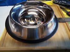 New ListingStainless Steel Bowl Dog Medium Cat Food Water Dish Feeder Non-Skid Base New