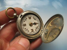 WW1 MILITARY COMPASS metal case with date - 1918. NOT COMPLETE 100% genuine !