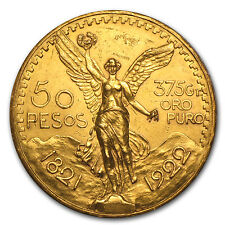 1922 Mexico Gold 50 Pesos (Cleaned) - SKU #85526