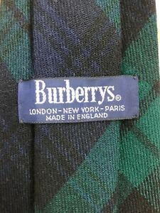 Burberry tie (flawless) - 100% wool - made in England - black watch tartan plaid