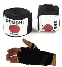 Muay Thai Main Wraps [ black ] Bandages Boxe Gant Intérieur Sac MMA Muay Thai paire