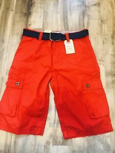 Size 16 Reg W 28  Boys Levi's Cargo Shorts with Belt (Red) (C62)