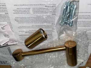 Moen YB0408BG Align Pivoting Double Post Modern Toilet Paper Holder Brushed Gold