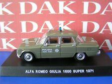 Die cast 1/43 Modellino Auto Polizia Police Alfa Romeo Giulia 1600 Super 1971