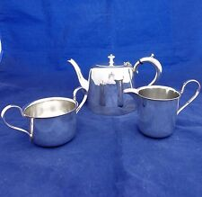 Vintage Art Deco EPNS Silver Plated Tea Set Three Pieces by Barker Brothers