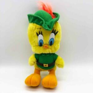"Vintage 12"" Tweety Bird as Robin Hood Plush Stuffed Animal Looney Tunes 1997 WB"