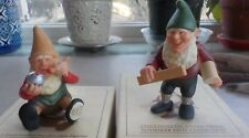 Vtg Toymaker Elves Collection Elf Porcelain Figures Emil, Hans