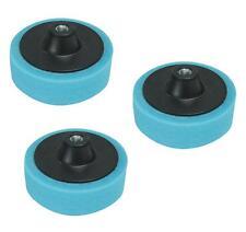 3 Foam Sponge Polishing Heads 150mm Valeting Buffing Mop Machine Blue Medium