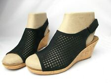Shoes Women's Briah Perf Sling Wedge Sandal Rockport Color Black Size 9.5 W