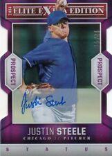JUSTIN STEELE 2014 ELITE EXTRA EDITION PURPLE DIE CUT AUTOGRAPHED RC #ed 15/75
