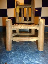 2 Little Wooden Chairs and Wooden Bench