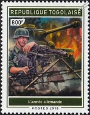 WWII BATTLE OF STALINGRAD German Army Soldier / Machine Gun & Tank Stamp (2018)