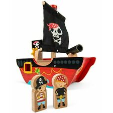 Le Toy Van Little Captain Pirate Boat Wooden Toy Creative Learning Play Kid Gift