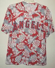 Los Angeles Angels v-neck mesh Hawaiian print baseball jersey sz XL