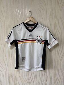 GERMANY 1998 2000 HOME FOOTBALL SHIRT SOCCER JERSEY ADIDAS sz YOUTH L